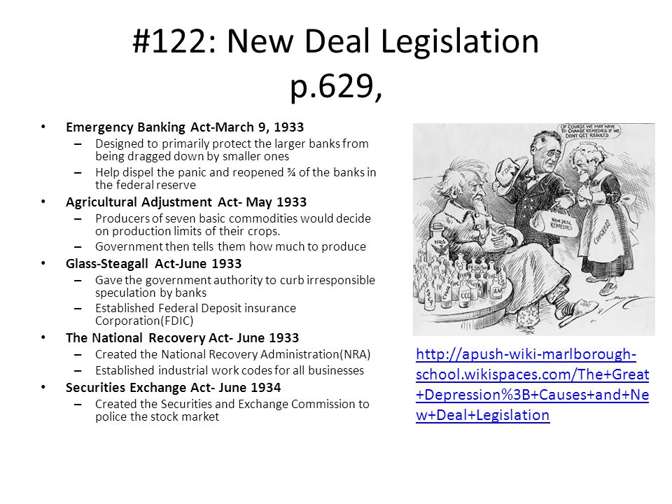 #122: New Deal Legislation p.629,