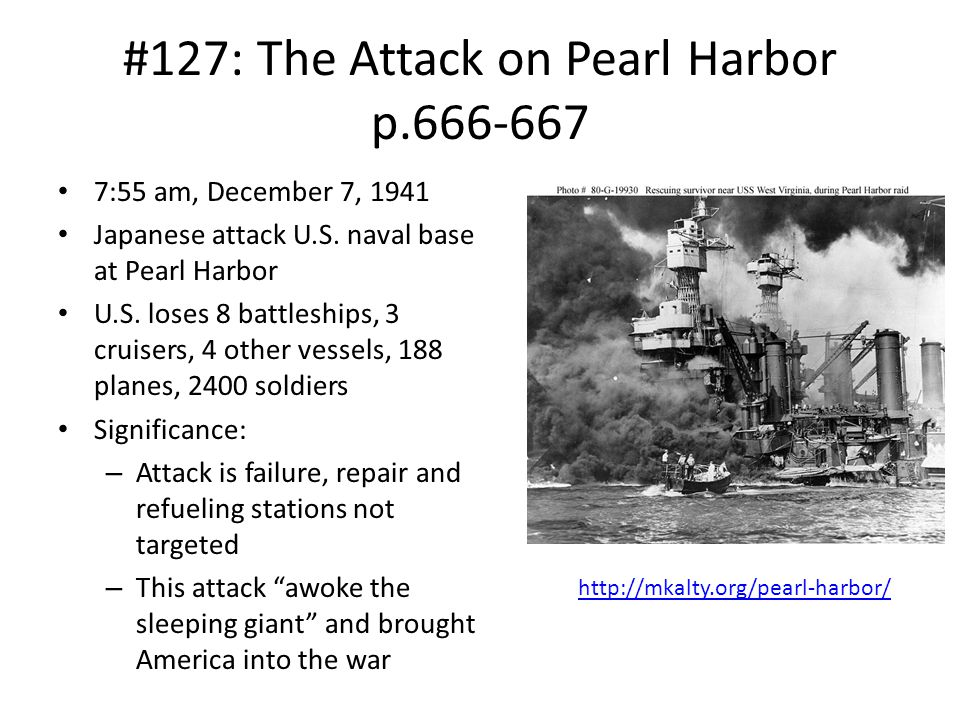 #127: The Attack on Pearl Harbor p.666-667