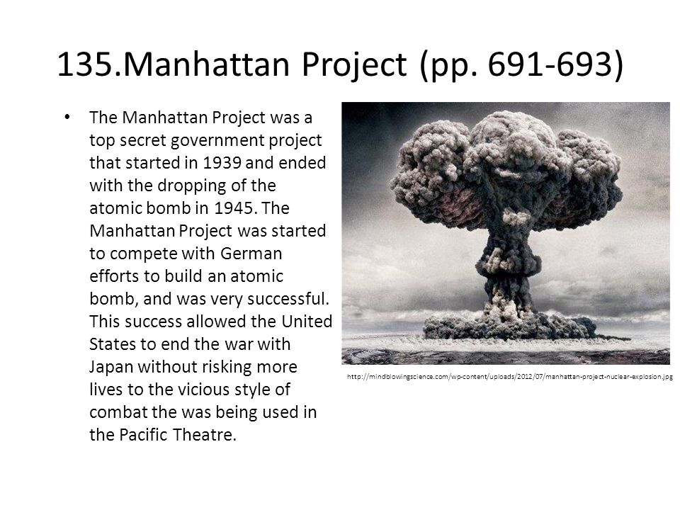 135.Manhattan Project (pp. 691-693)