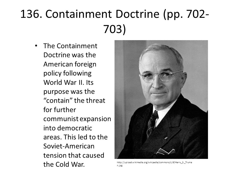 136. Containment Doctrine (pp. 702-703)