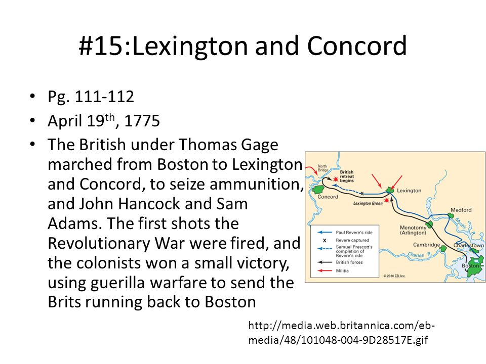 #15:Lexington and Concord