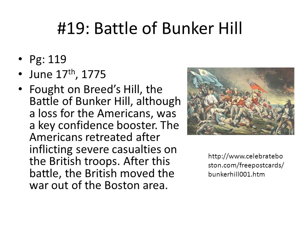 #19: Battle of Bunker Hill