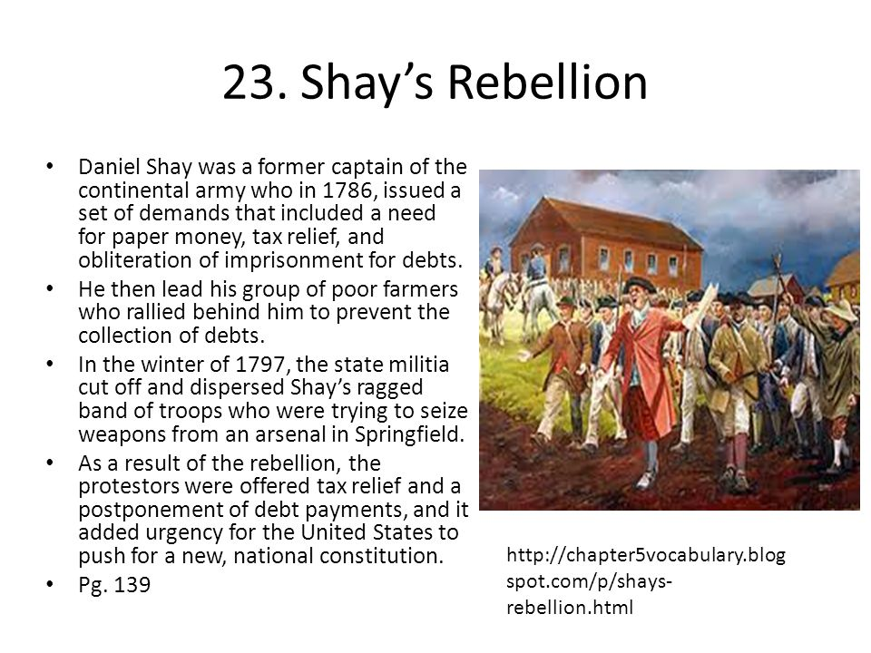23. Shay's Rebellion