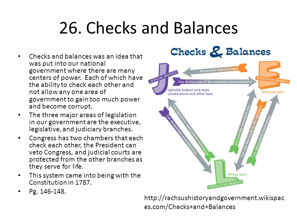 26. Checks and Balances