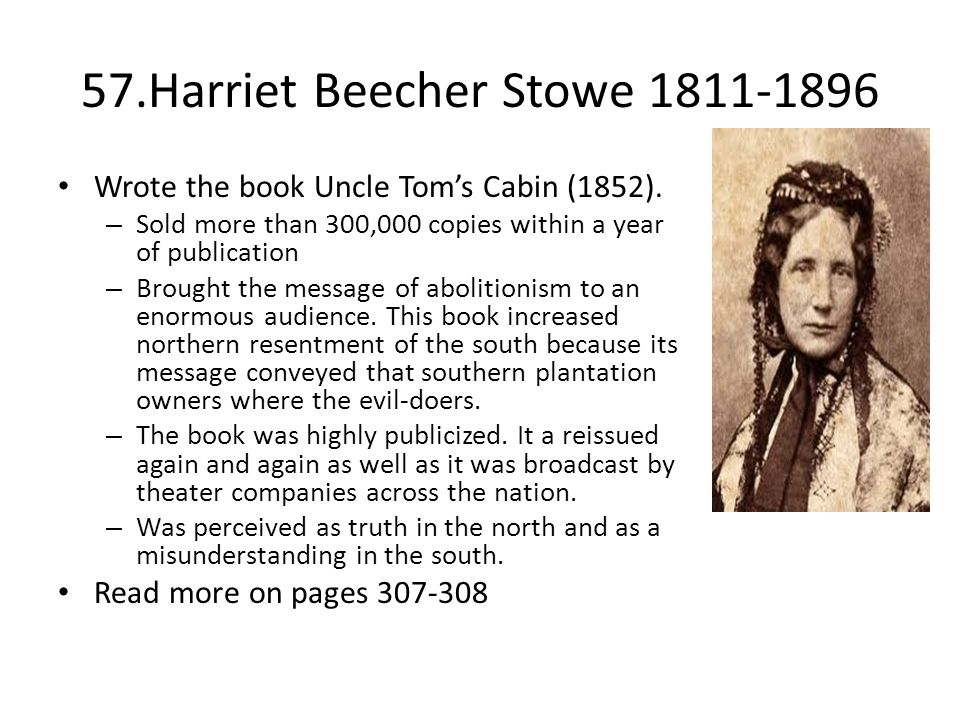 57.Harriet Beecher Stowe 1811-1896