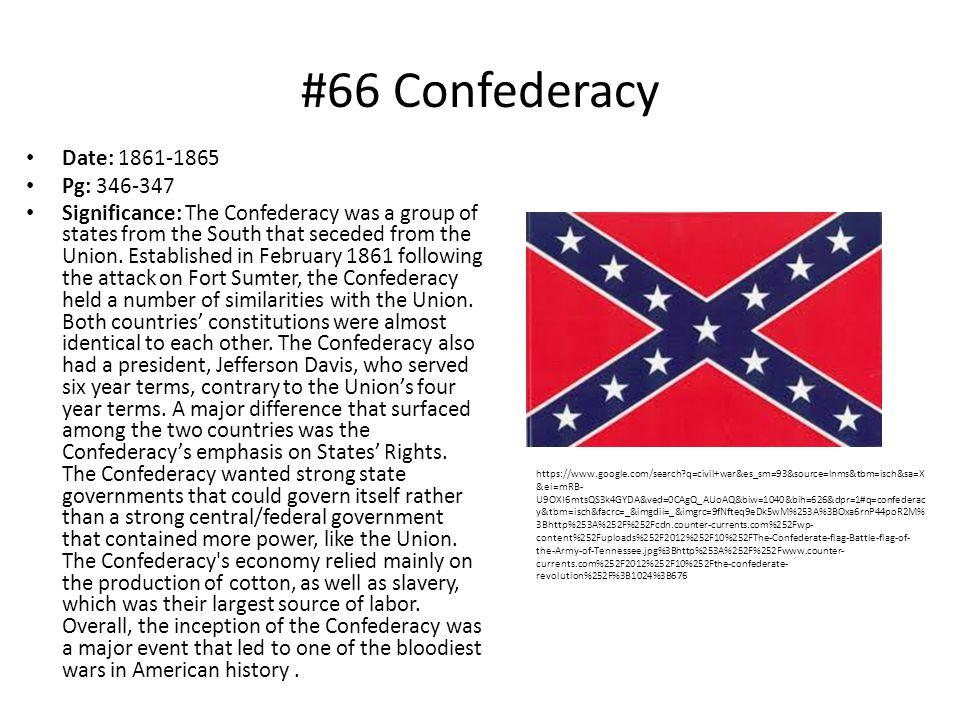 #66 Confederacy Date: 1861-1865 Pg: 346-347