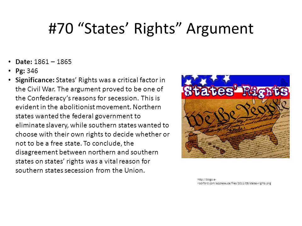 #70 States' Rights Argument