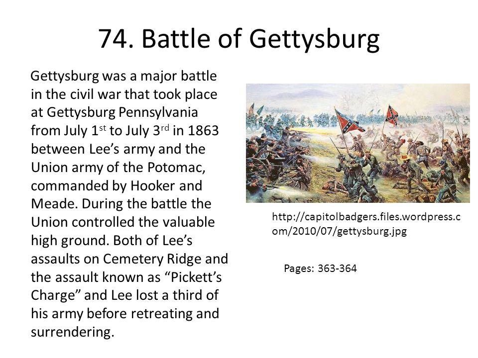74. Battle of Gettysburg