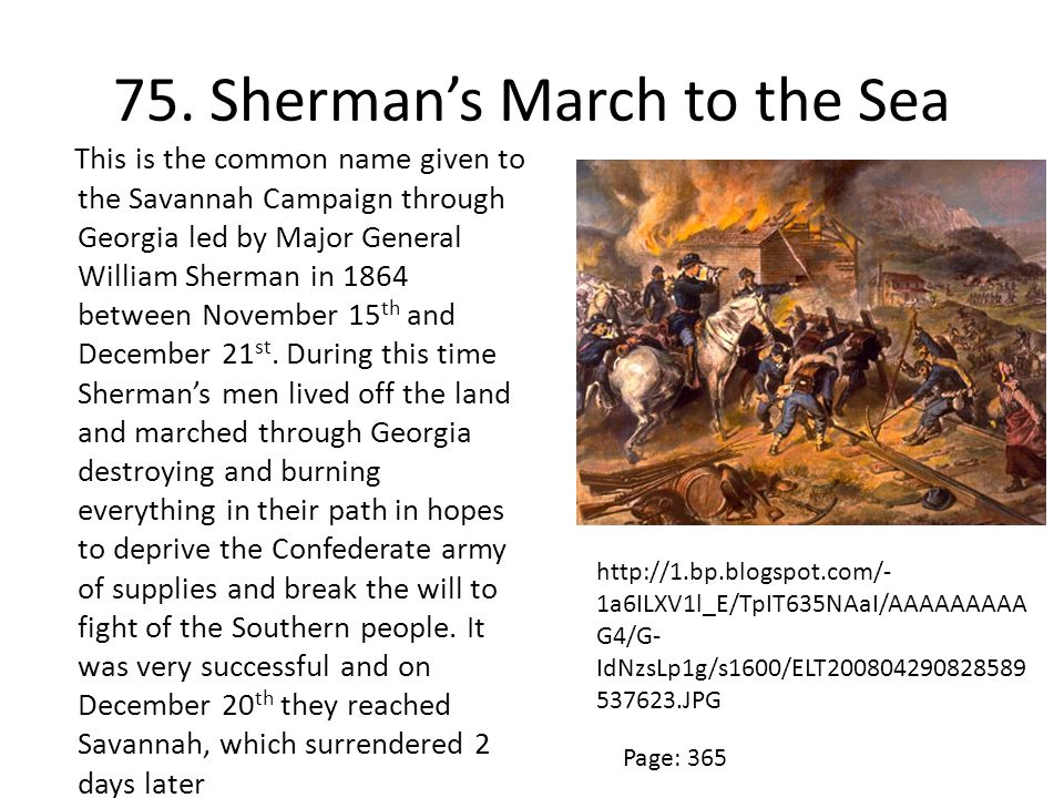 75. Sherman's March to the Sea