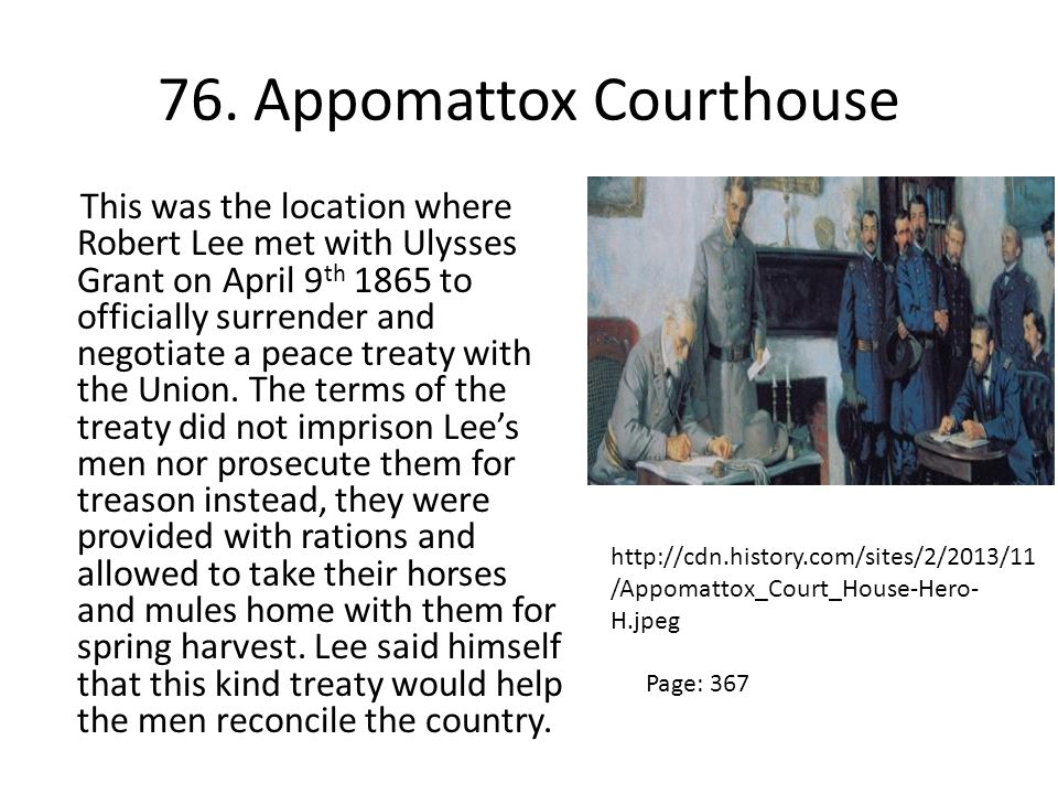 76. Appomattox Courthouse