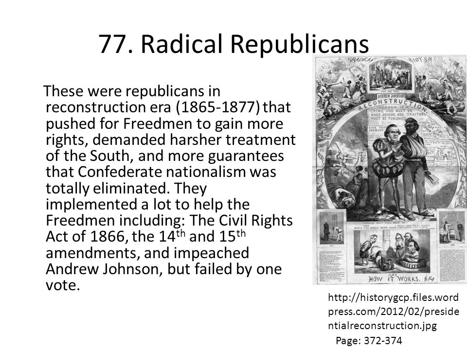 77. Radical Republicans