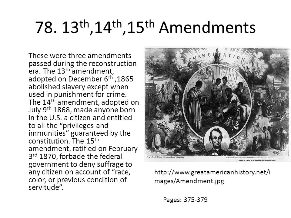 78. 13th,14th,15th Amendments