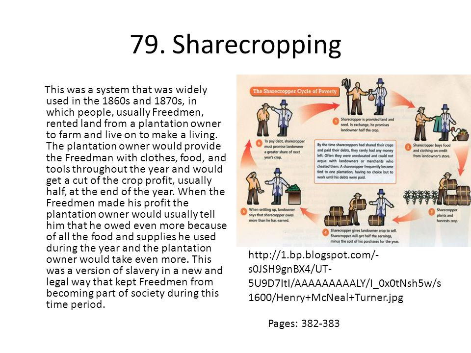 79. Sharecropping