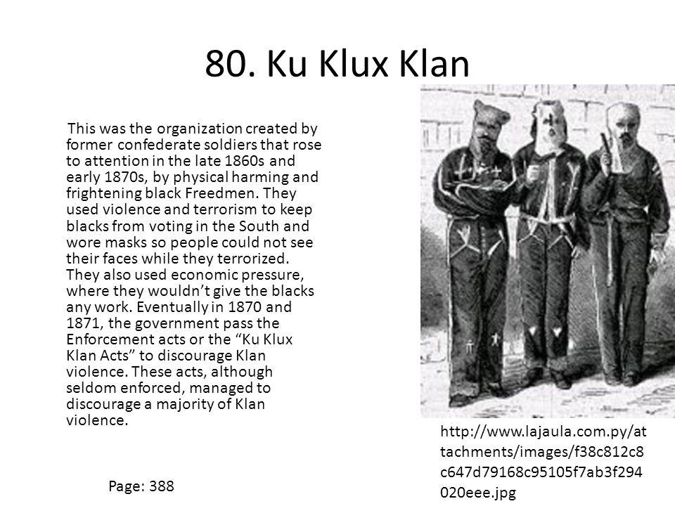 80. Ku Klux Klan