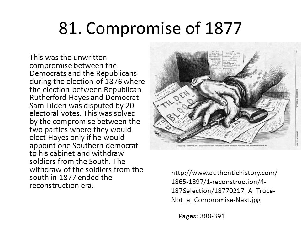 81. Compromise of 1877