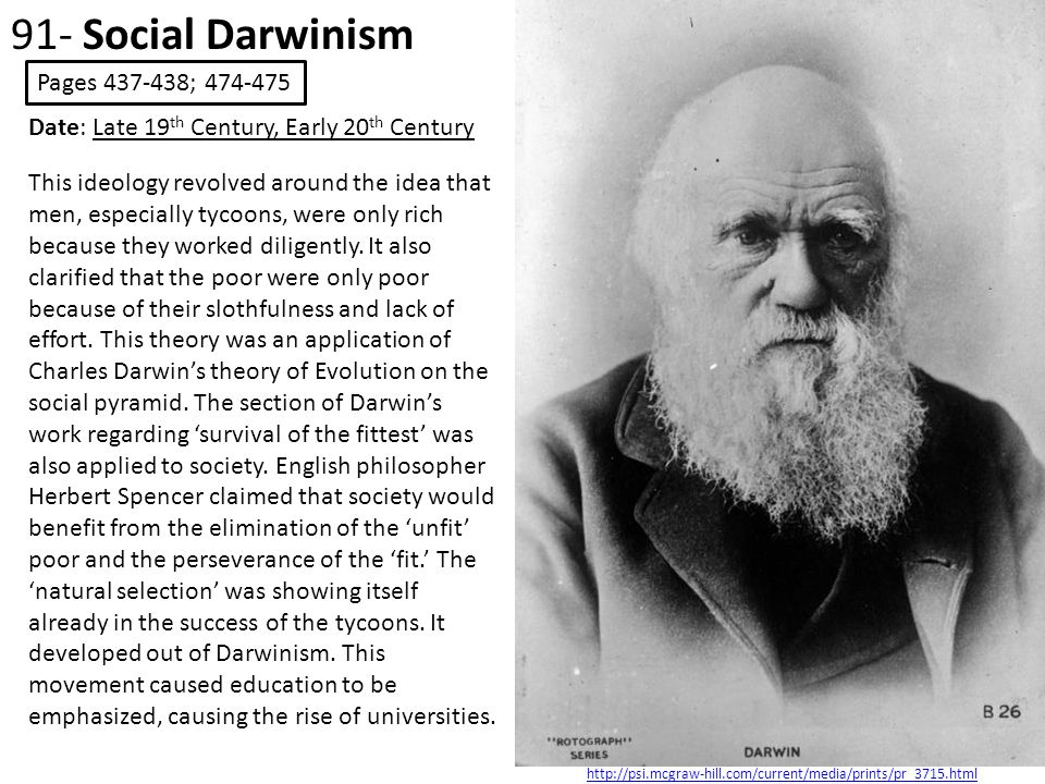 91- Social Darwinism Pages 437-438; 474-475