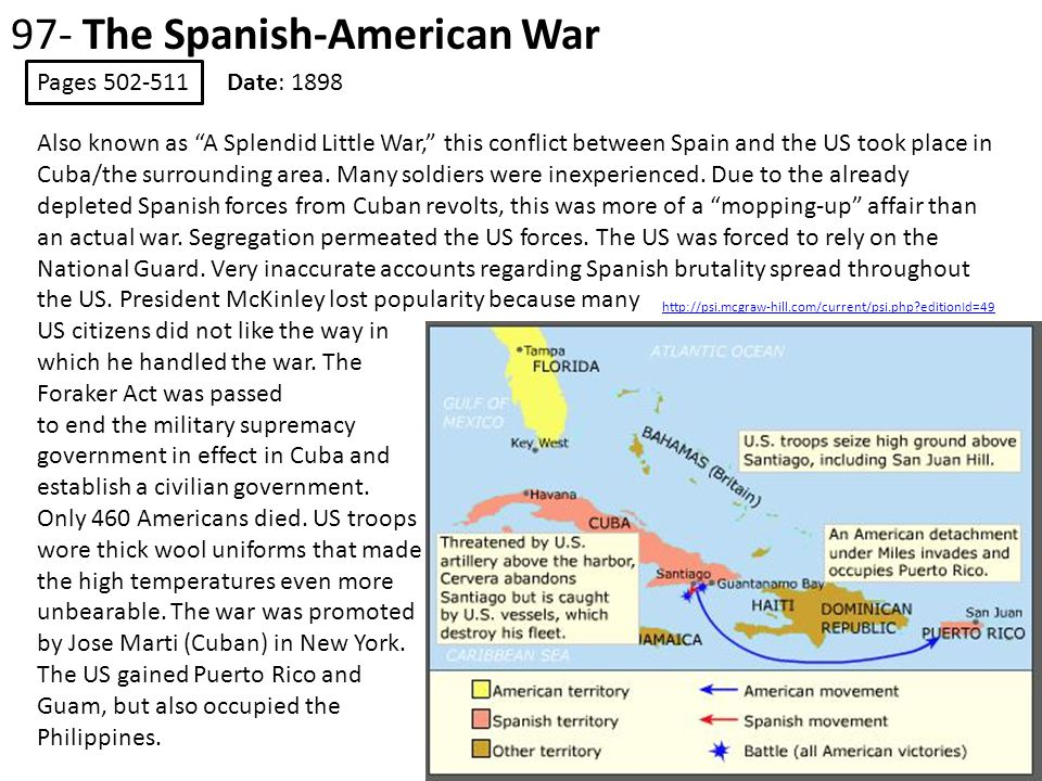97- The Spanish-American War