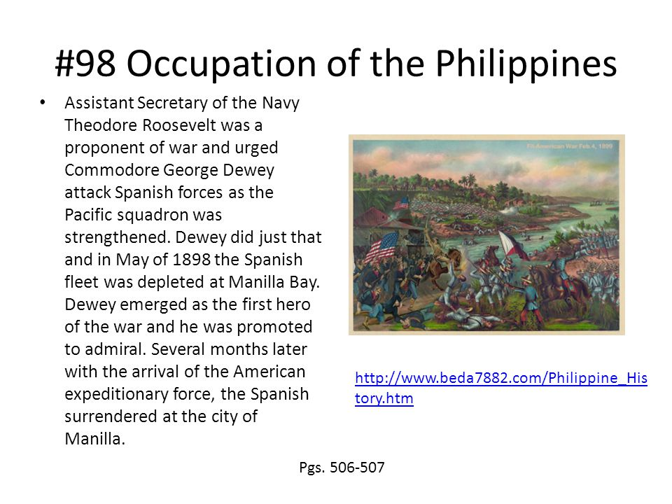 #98 Occupation of the Philippines