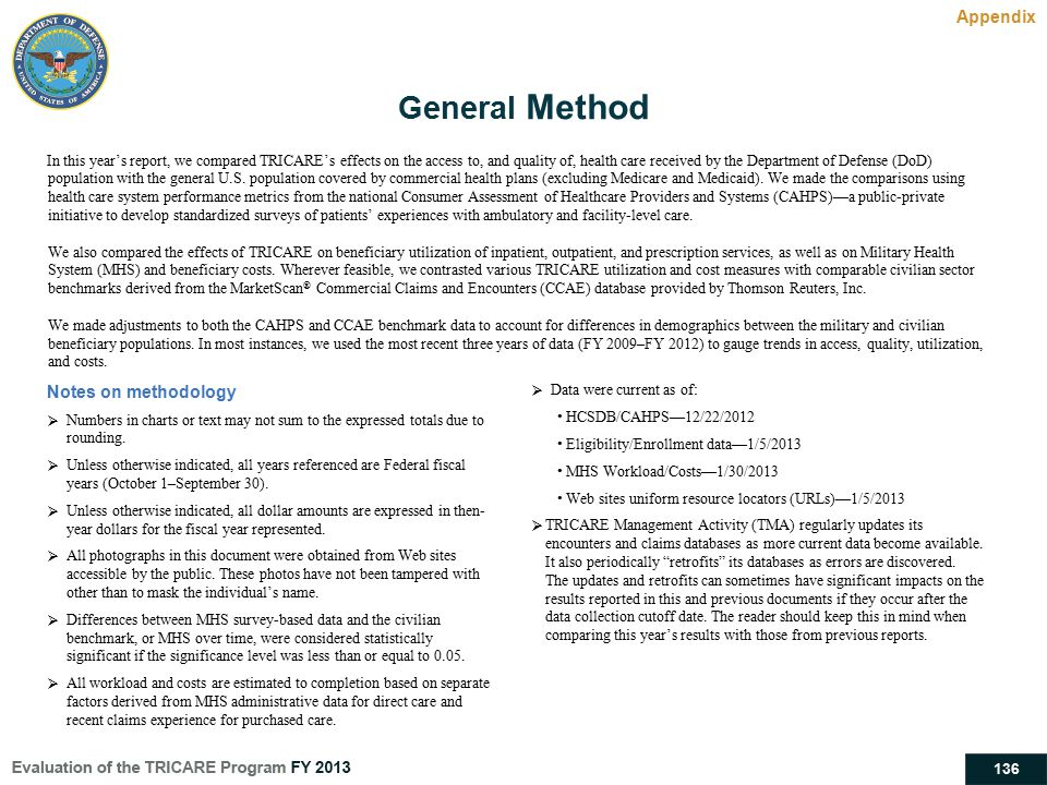 General Method Appendix Notes on methodology
