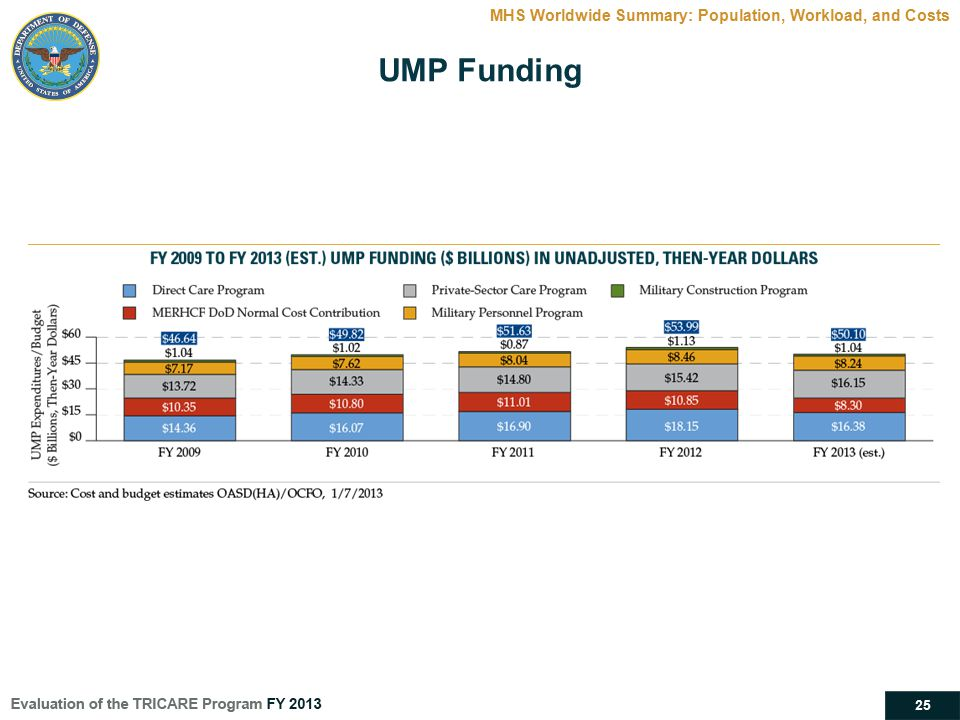 UMP Funding MHS Worldwide Summary: Population, Workload, and Costs