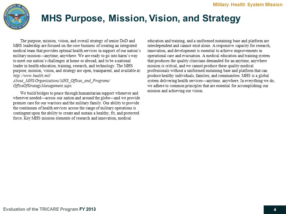 MHS Purpose, Mission, Vision, and Strategy