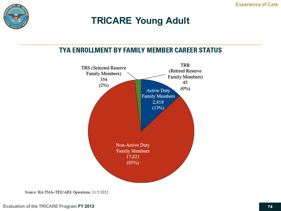 TRICARE Young Adult Experience of Care