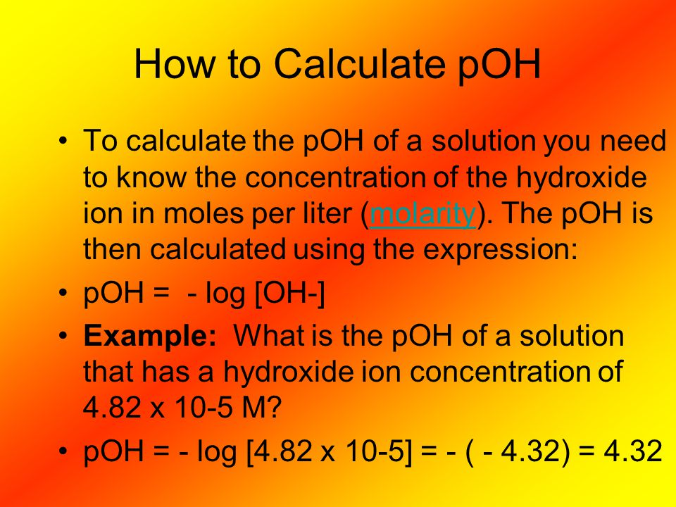 How to Calculate pOH
