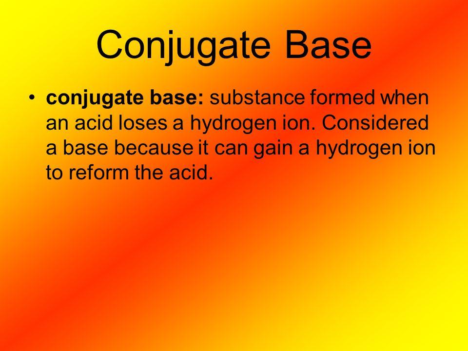 Conjugate Base