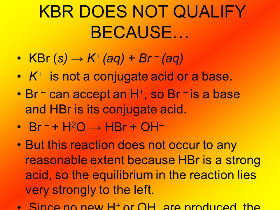 KBR DOES NOT QUALIFY BECAUSE…