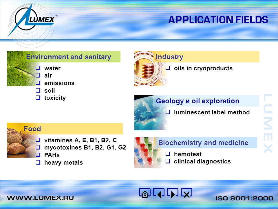 APPLICATION FIELDS Environment and sanitary Industry