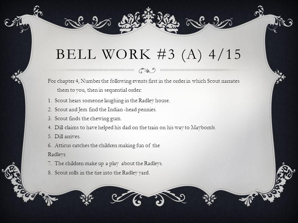 Bell Work #3 (A) 4/15