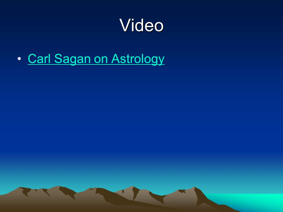 Video Carl Sagan on Astrology