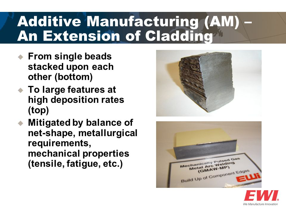 Additive Manufacturing (AM) – An Extension of Cladding