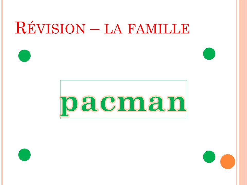 Révision – la famille pacman