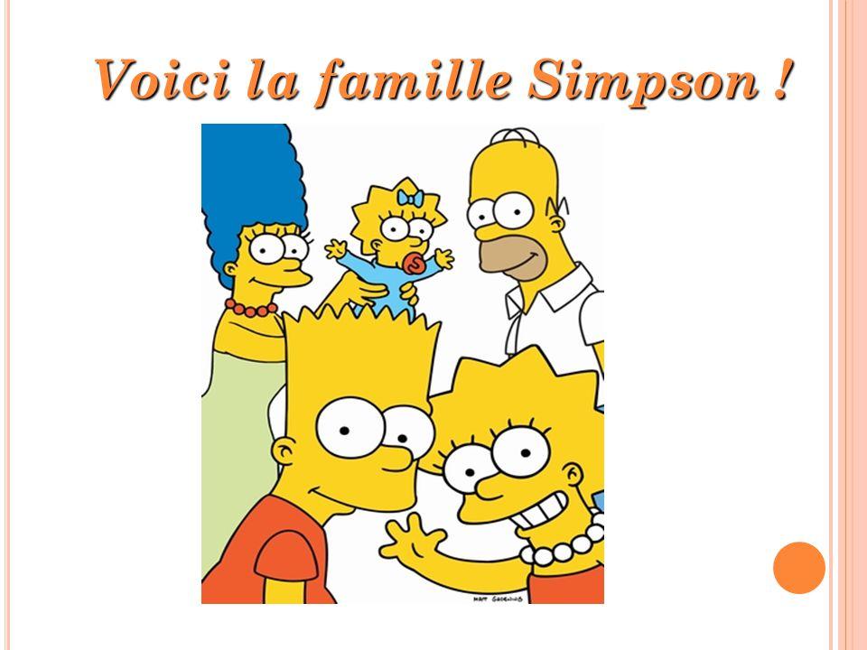 Voici la famille Simpson !