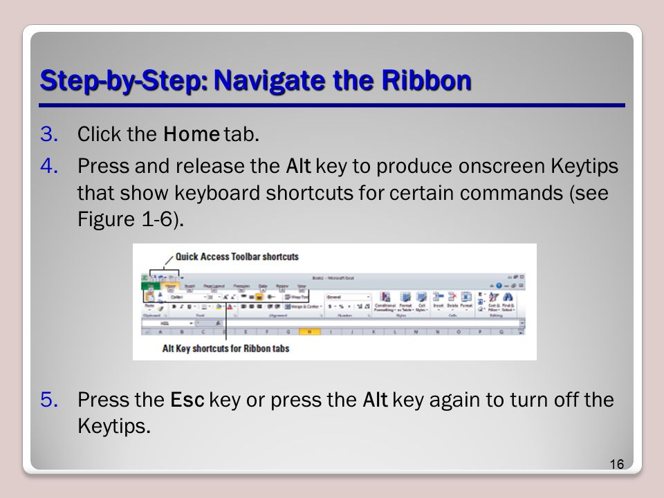 Step-by-Step: Navigate the Ribbon
