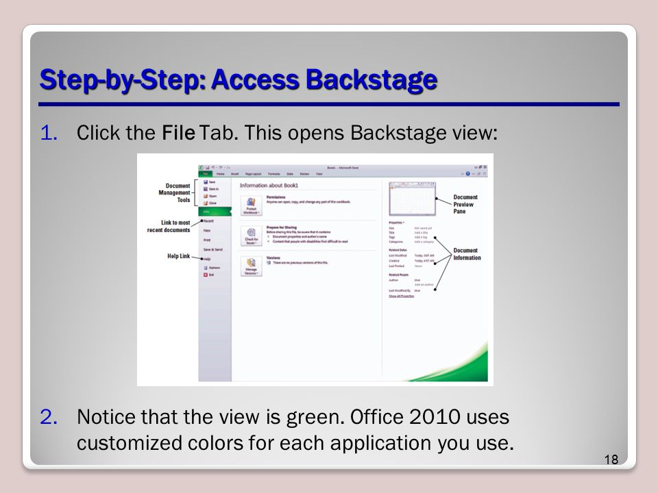 Step-by-Step: Access Backstage