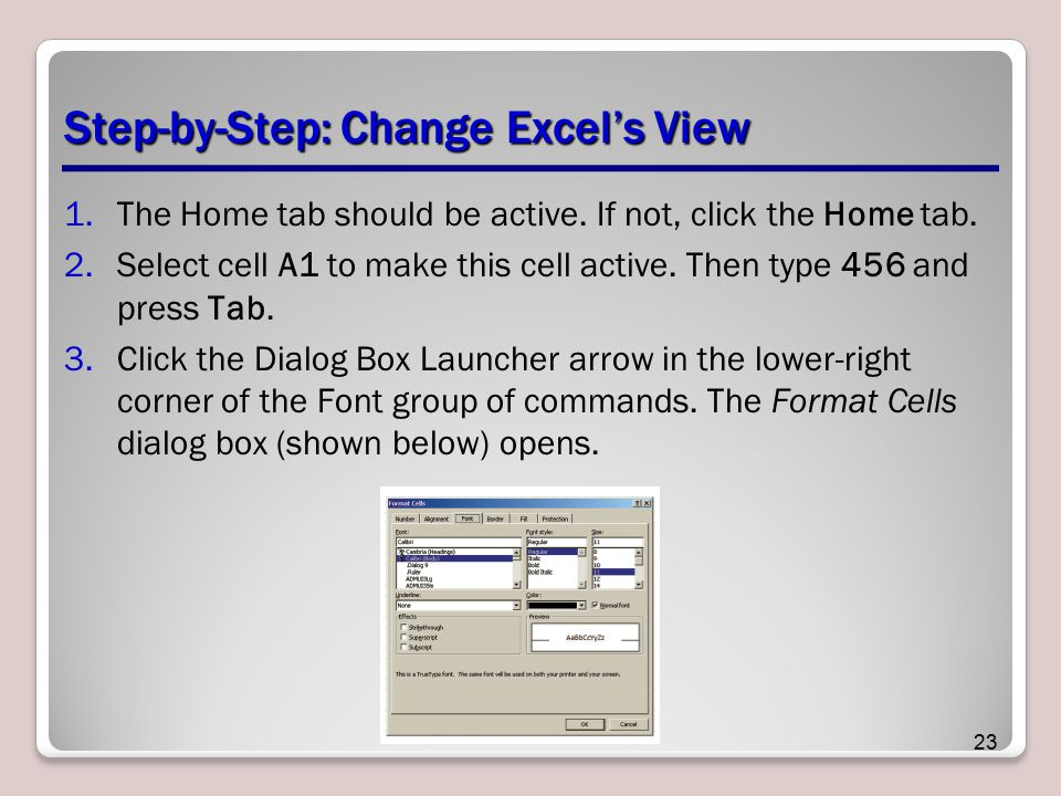 Step-by-Step: Change Excel's View