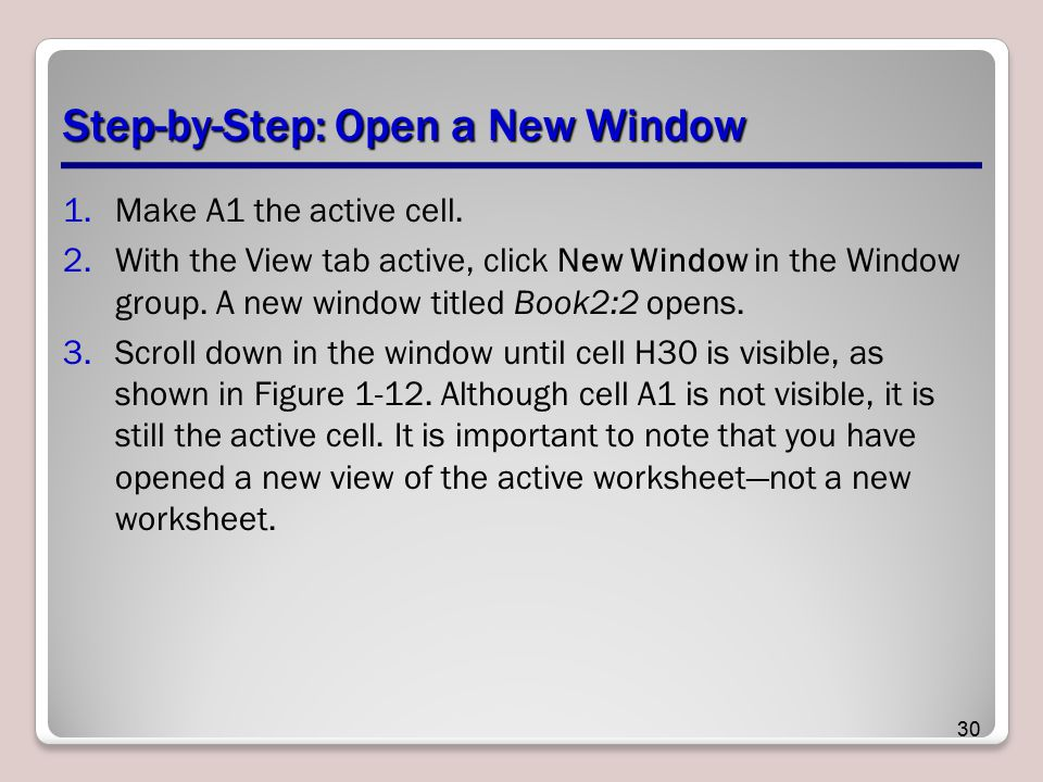 Step-by-Step: Open a New Window