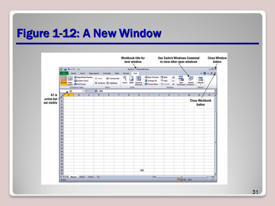 Figure 1-12: A New Window