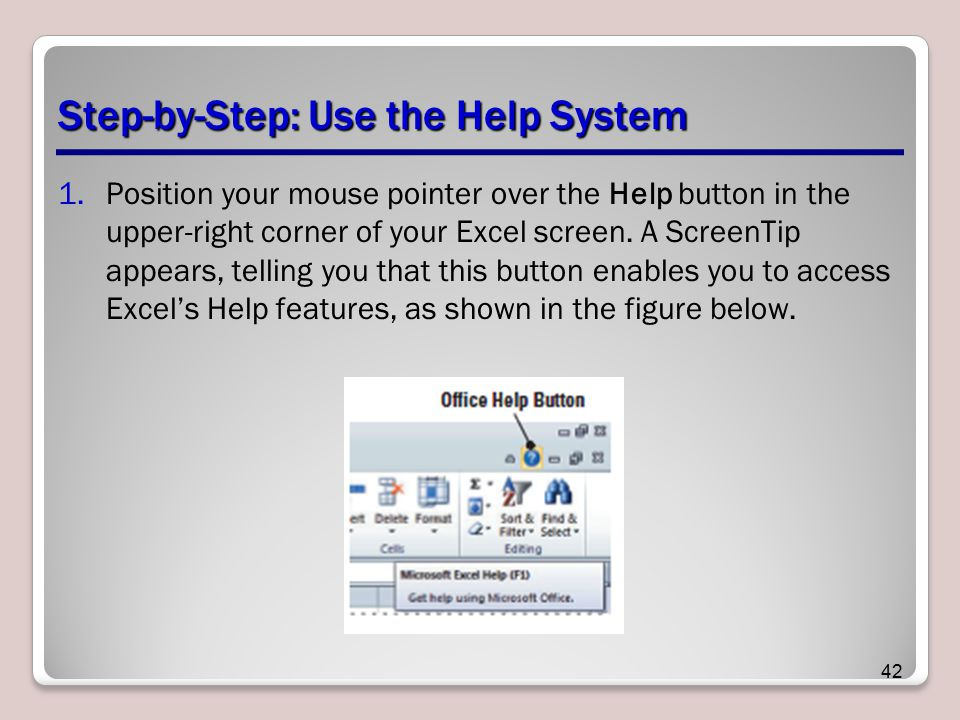 Step-by-Step: Use the Help System