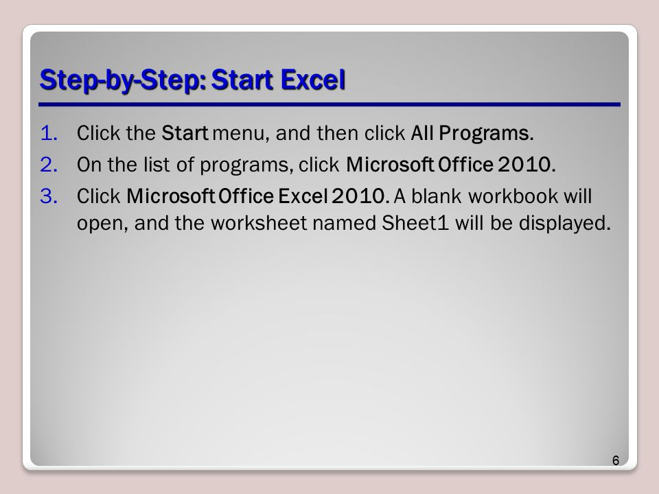 Step-by-Step: Start Excel