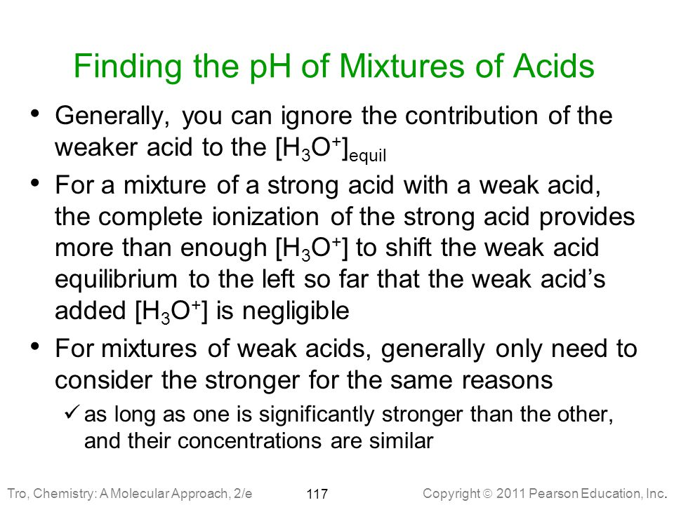 Finding the pH of Mixtures of Acids