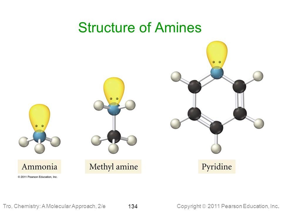 Structure of Amines Tro, Chemistry: A Molecular Approach, 2/e