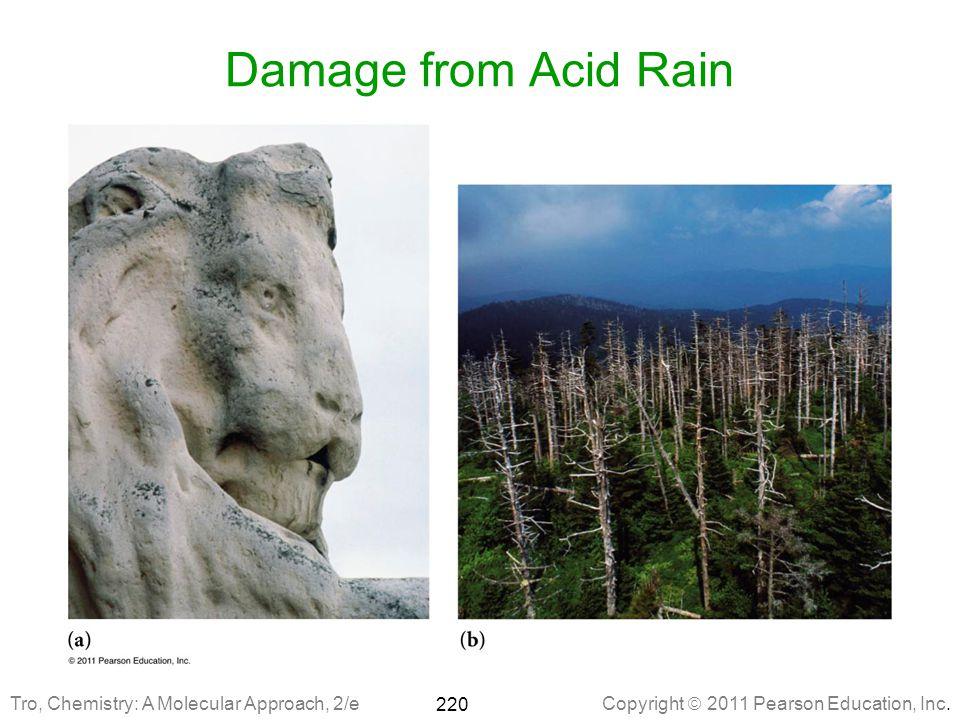 Damage from Acid Rain Tro, Chemistry: A Molecular Approach, 2/e
