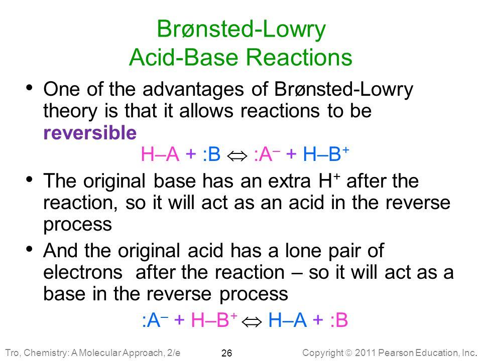 Brønsted-Lowry Acid-Base Reactions