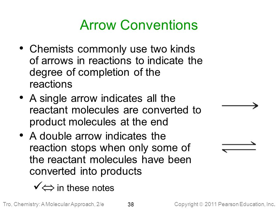 Arrow Conventions  in these notes