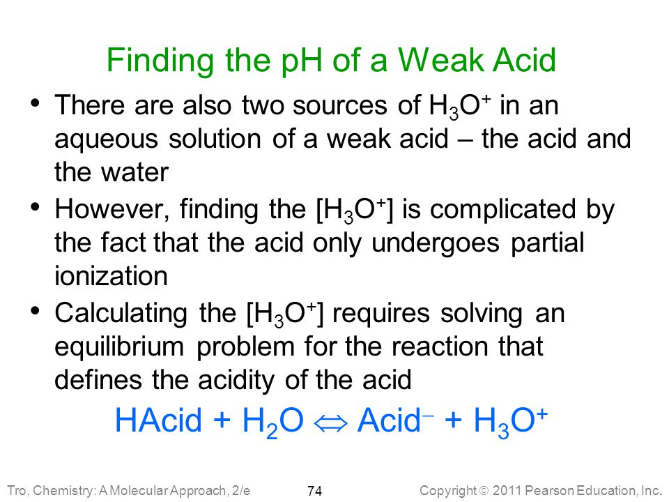 Finding the pH of a Weak Acid