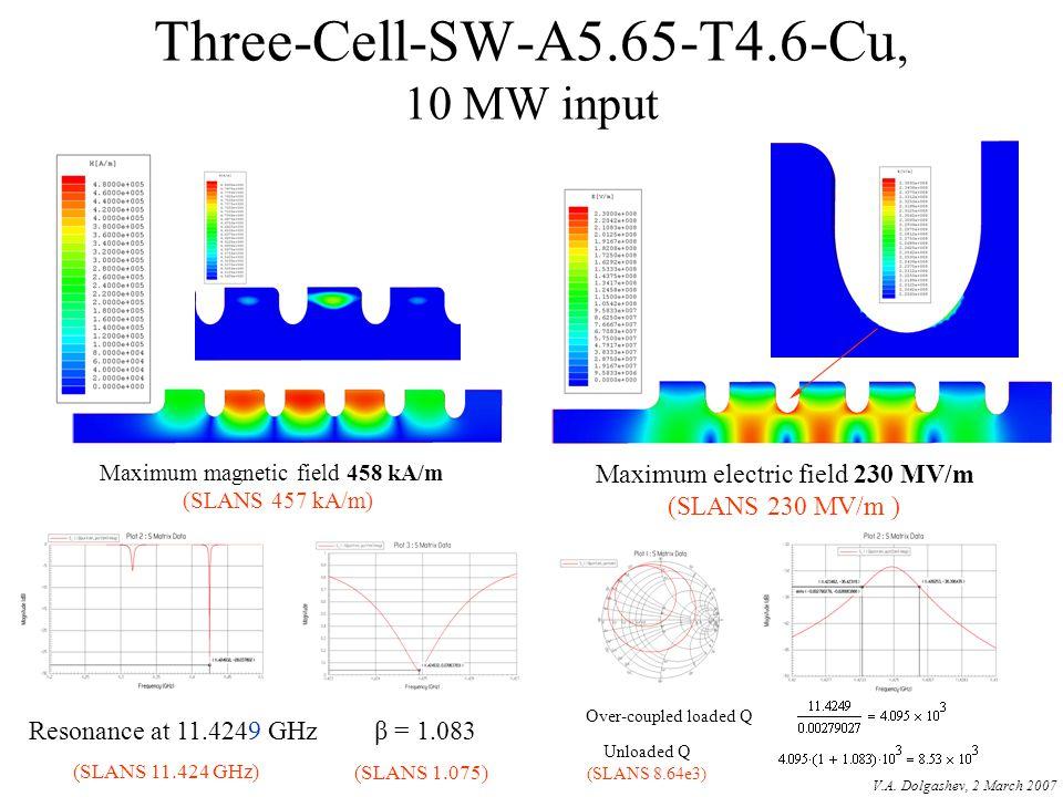 Three-Cell-SW-A5.65-T4.6-Cu, 10 MW input