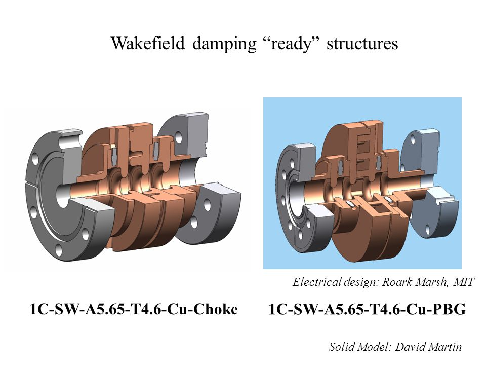 Wakefield damping ready structures